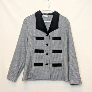 Scarlett black and white checkered blazer, Large